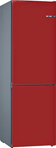 Bosch Serie 4 KVN39IR3A Libera installazione 366L A++ Rosso frigorifero con congelatore