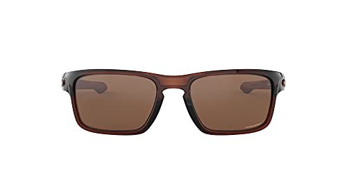 Oakley Men's OO9408 Sliver Stealth Square Sunglasses, Polished Rootbeer/Prizm Tungsten, 56 mm