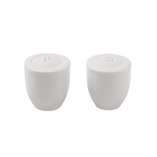 Villeroy & Boch - For Me Set Salz- und Pfefferstreuer, dekorative Gewürzspender aus Premium Porzellan, spülmaschiengeeignet, weiß