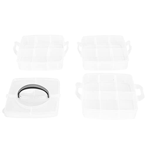 Portagioie in plastica, contenitore organizer impilabile a 18 griglie smontabile per unghie, anelli, orecchini per giocattoli