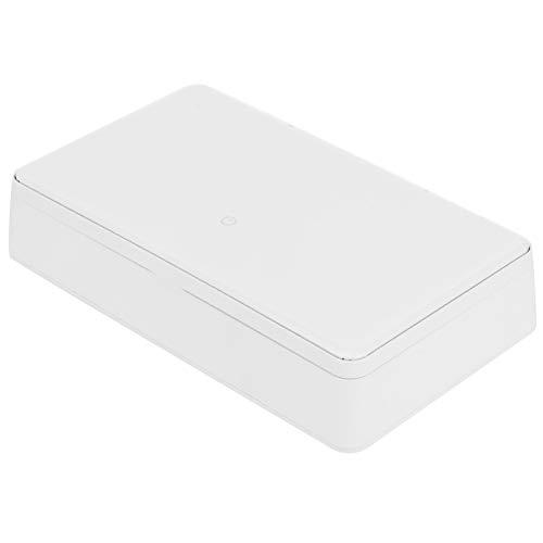 Aromaterapia Caja UV Limpiador ultravioleta Caja de limpieza inteligente UV Caja fácil de teléfono móvil para el hogar(white)
