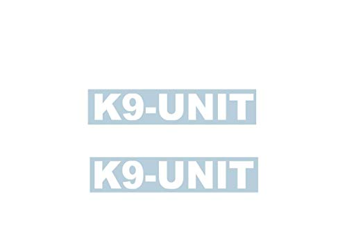 Xpin Graphics (2) K9 Unit Police Dog Decal Sticker 2X 11 Decals Stickers Law Enforcement