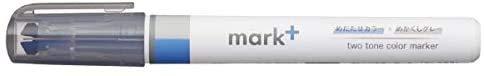 コクヨ 蛍光ペン 2トーンカラーマーカー マークタス グレータイプ ブルー/グレー PM-MT101BM 【× 5 本 】