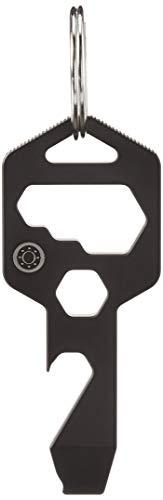CLOSS 8 in 1 Titan Multitool Schlüsselanhänger - Flaschenöffner, Schraubendreher und Schraubenschlüssel (schwarz) (1 schwarz)