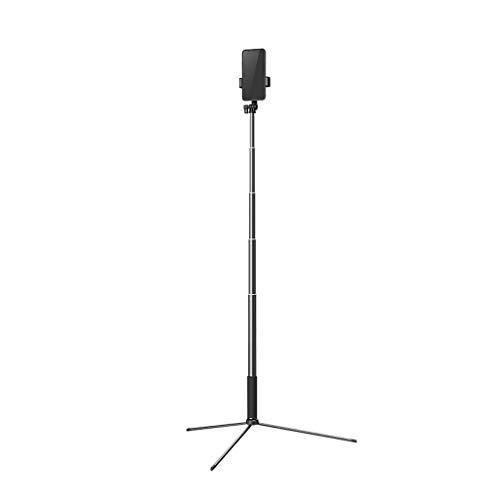 KHUY Soporte Movil para Mesa, Soporte para Movil Tripode Soporte Telefono Soporte Movil del Escritorio para Grabación de Video, hasta 67in Selfie Stick con Bluetooth (Color : Black)