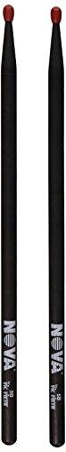 Vic Firth NOVA® Series Drumsticks - 5BN - Nylon Tip - Black