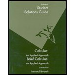 Calculus: An Applied Approach - Student Solutions Guide (Paperback)