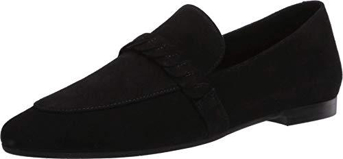 Aquatalia Women's Loafer Flat, Black, 5.5 B (M)