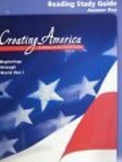 McDougal Littell Creating America: Reading Study Guide Answer Key Grades 6-8 Beginnings through World War l