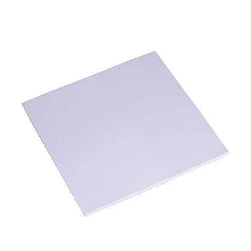 Annadue CPU Wärmeleitpad 2mm Kühlkörper Kühlung Wärmeleitfähigkeit Blatt Leitfähiges Silikon Pad 100 x 100 x 2 mm(Grau + Weiß)