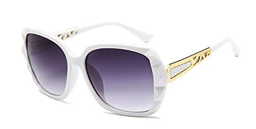 Secuos Gafas De Sol Cuadradas Mujer Diseñador De La Marca Espejo Fotocromático Gafas De Sol De Gran Tamaño Mujer Uv400 Blanco
