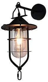 LJ Led Light Painted Steel Wandleuchte Dumb Black American Coffee Dekoration Retro Wandleuchte Lichtschwert Lampe an der Wand