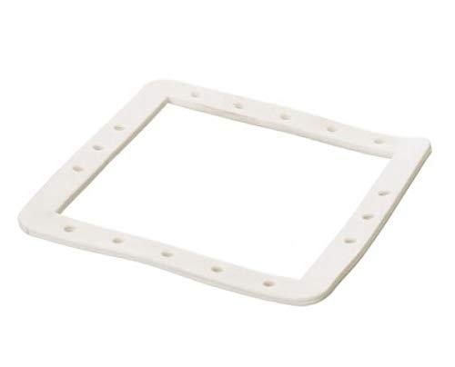 Poolomio Pool Skimmer-Dichtung in Weiß, geeignet für Stahlwandbecken, Ersatzteil / Reserve, Gummidichtung, Doppelfalzdichtung, Innenmaße 140 x 145 mm, Menge: 1 Stück
