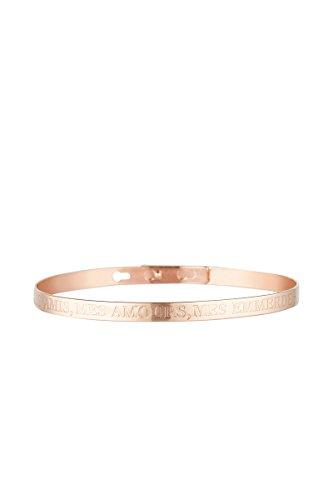 Cordoba Jewels | Armband van roséverguld staal design Mes Amis, Mes Amours, Mes Emmerdes