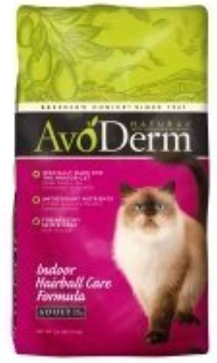 AvoDerm Natural Indoor Hairball Formula Corn Free Cat Food, 11Pound by AvoDerm Natural