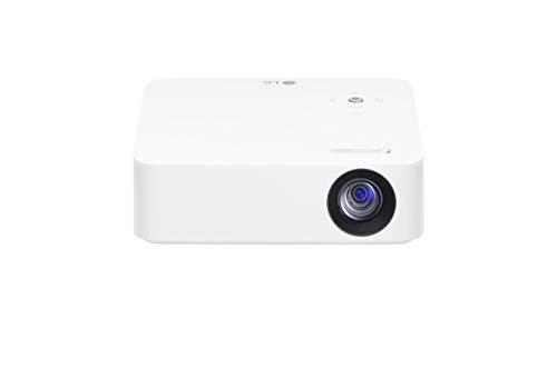"""LG CineBeam PH30N - Proyector portátil con batería integrada (hasta 100"""", autonomía 2 horas, fuente LED, 250 lúmenes, 1280 x 720 píxeles) Color Blanco"""