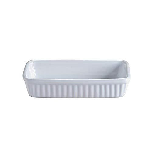 Mason Cash Collection Plat à rôtir rectangulaire en grès fin, céramique, blanc, 18 x 1,1 x 3,5 cm