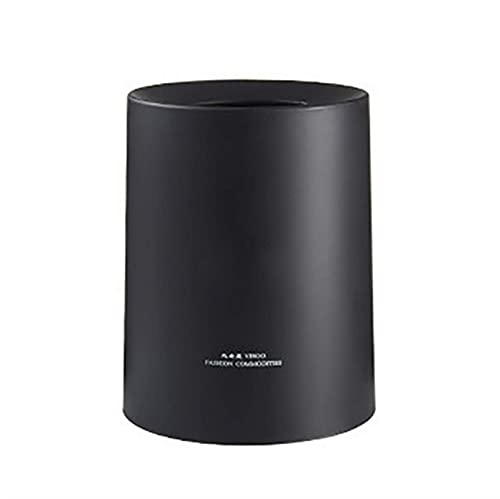 Cubo de Basura para Interior Cubo de Basura nórdico Hogar Sala de Estar Cocina Baño Cubo de Almacenamiento de plástico de Doble Barril Redondo Creativo Cubo de Reciclaje de Basura (Color: White, Size
