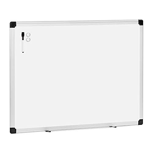 Amazon Basics Magnetic Dry Erase White Board, Whiteboard with Silver Aluminium Frame, 48 x 36 Inches