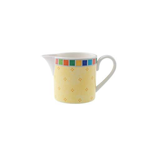 Villeroy & Boch Twist Alea Limone Milchkännchen, 200 ml, Premium Porzellan, Weiß/Gelb