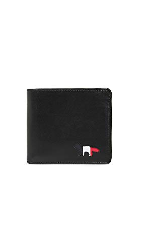 Maison Kitsune Men's Tricolor Wallet, Black, One Size