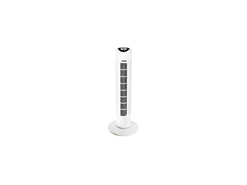 Zephir PH82TS Ventilatore a Torretta con Telecomando, Timer, 45 W, Bianco