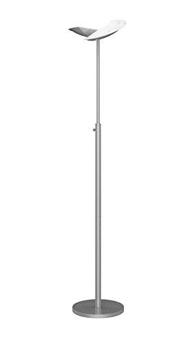 Unilux LED Deckenfluter Zelux, silbergrau, 2 x 2000lm für direkte und indirekte Beleutung, 3000K, 2x20W