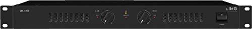 IMG STAGELINE STA-400D Stereo PA-Digital Verstärker, Class-D-Amplifier mit Schutzschaltungen gegen Kurzschluss und Übertemperatur in besonders flacher Bauform, in Schwarz