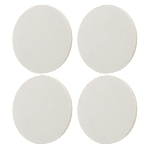 4 discos de pulido de fieltro de lana, 125 mm de diámetro, 9 mm de grosor