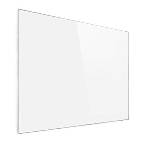 KLARSTEIN Wonderwall Air - Calefactor infrarrojo, infrarrojo de Cristal de Carbono, IR ComfortHeat, sin Ruidos, detección Ventana Abierta, para alérgicos, termostato, 120 x 100 cm, 1200 W, Blanco