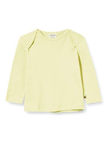 loud + proud Mädchen Shirt Single Jersey Organic Cotton Langarmshirt, Gelb (Lemon Lea), (Herstellergröße: 50/56)
