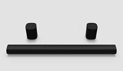 Sonos Arc Surround Set   Soundbar + 2x One SL, schwarz – Elegante Premium Soundbar für mitreißenden Kino Sound – Mit Dolby Atmos, Apple AirPlay2, Sprachsteuerung - inkl. 2x One SL Rearspeaker