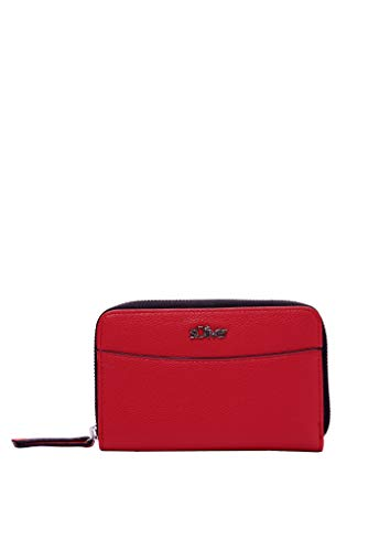 s.Oliver RED LABEL Damen Zip Wallet in Leder-Optik red 1