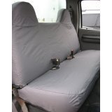 Durafit Seat Covers F236-X7-FBA Gray- Ford F250-F550 Truck Front Solid Bench Seat Exact Fit Custom Seat Covers Gray Automotive Twill.F236-X7
