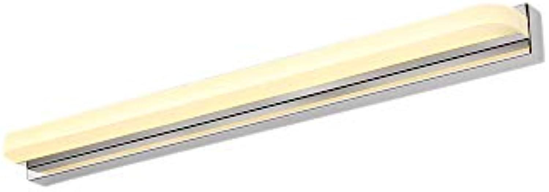 J.SUNUN Spiegellampen, LED-Spiegelleuchte Badleuchte aus Acryl und Edelstahl ohne Schalter 220V (Farbe   Warmes Licht, Gre   62cm 14W)
