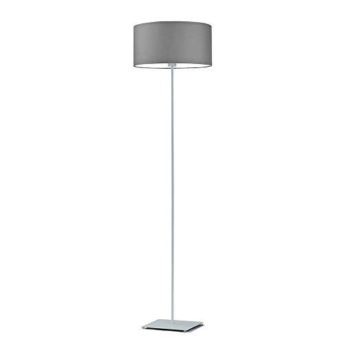 SOFIA - Lámpara de pie con pantalla de color gris acero, marco plateado