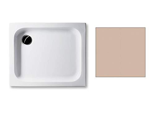 Acryl Duschwanne 90 x 75 cm Farbe: BAHAMABEIGE 6,5cm flach rechteckig Dusche/Duschtasse/Brausewanne