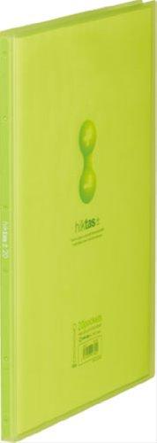 キングジム クリアファイル ヒクタス A4 20ポケット 黄緑 7181Tキミ