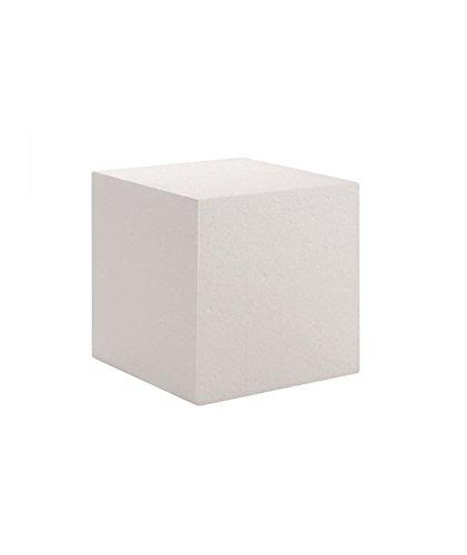 Glorex Cubo de poliestireno, Blanco, 20 x 20 x 20 cm
