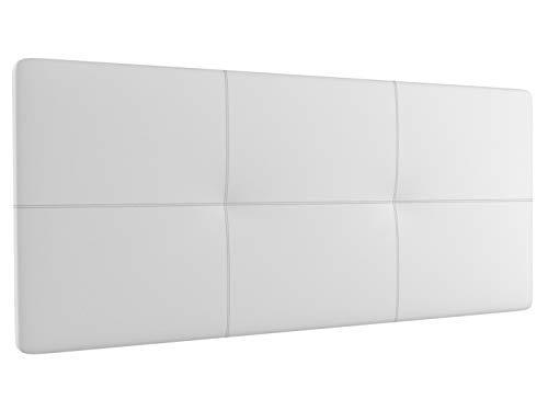 LA WEB DEL COLCHON - Cabecero tapizado Atenas para Cama de 90 (100 x 70 cms) Blanco   Cama Juvenil  ...
