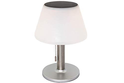 Brandsseller Lámpara solar LED de mesa para exterior, iluminación de jardín, blanco cálido, 3 niveles de luz, diámetro 20 x altura 28 cm