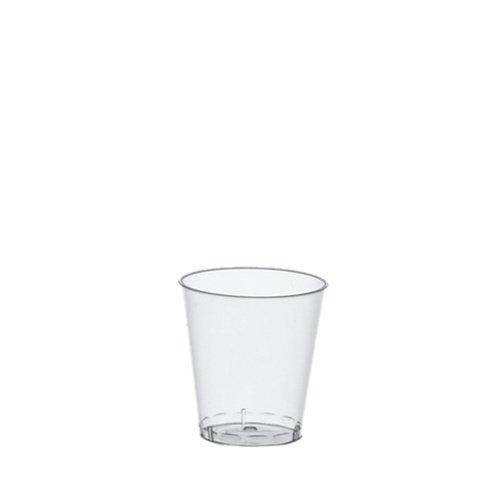 1.000 glazen voor jenever, PS 2/4 cl Ø 4,2 cm 5,2 cm helder borrelglas plastic met maatstreep