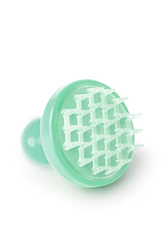 Vitagoods Scalp Massaging Shampoo Brush - Handheld Vibrating Massager, Water-Resistant Device - Lucite Green