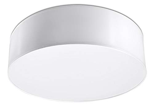 Sollux Lighting Arena 35 SL.0123 - Lámpara de techo redonda y moderna (PVC-SOLLUX), color blanco Bombilla LED E-27 de Amazon.