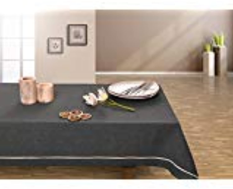 DecoKing 140x240 Graphit grau Tischdecke Tischtuch elegant praktisch praktisch praktisch pflegeleicht Leinoptik Lein Optik mit Borte Modern Lein B00U2NLIRO 889e23