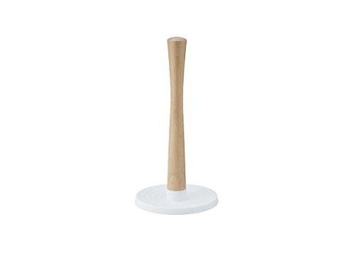RIG-TIG by Stelton ROLL-IT weiß Küchenrollehalter, Gummibaumholz, Kunststoff, 31 x 16 x 16 cm