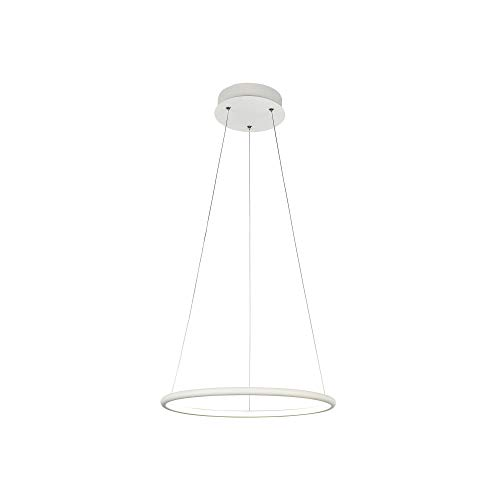 MAYTONI DECORATIVE LIGHTING MOD877PL-L24W - Lámpara colgante moderna con marco metálico y anillo LED regulable, 24 W, 220-240 V, 1400 lm, color blanco, 40 cm de diámetro, MOD877PL-L24W