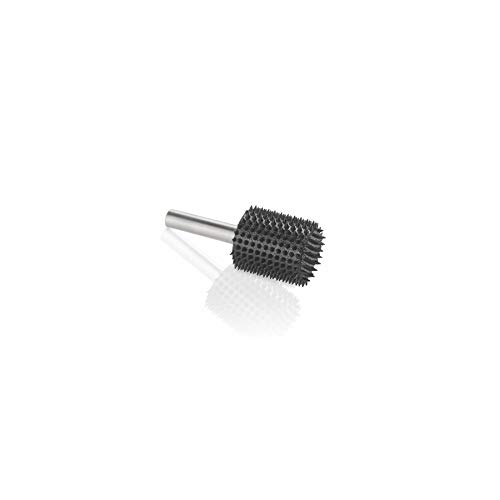 Kutzall Extreme Cylinder Rotary Burr, 1?4 Shaft, Very Coarse - Woodworking Attachment for Bosch, DeWalt, Milwaukee, Makita. Abrasive Tungsten Carbide, 3?4 (19mm) Dia. X 1 (25.4mm) Length, CX-34C