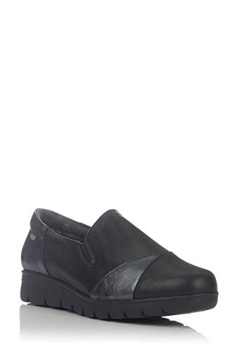 On Foot - Zapato Confort en Negro Flexible Copete - Negro, 39