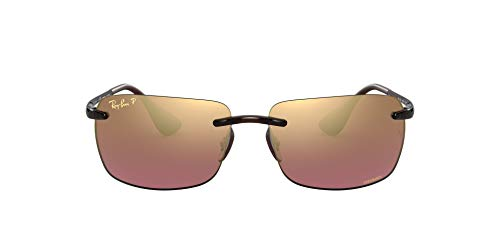 Ray-Ban Herren 4255 Brillengestelle, Braun (Shiny Brown/Brown Mirror Gold), 60